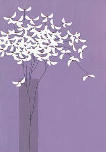 Flowers in Lilac Vase by Takashi Sakai