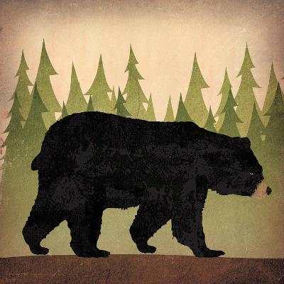 Take a Hike Bear no Words-Ryan Fowler-Art Print