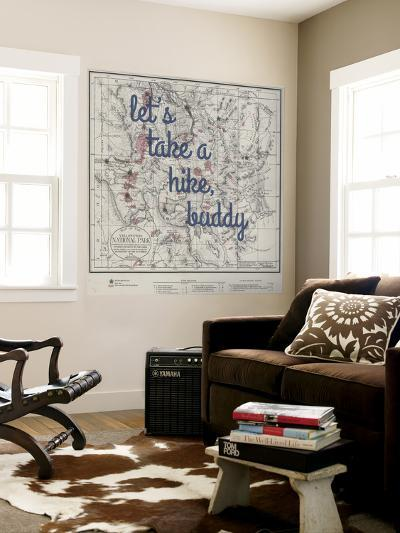 Take a Hike, Buddy - 1881, Yellowstone National Park 1881, Wyoming, United States Map--Wall Mural