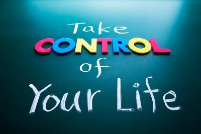 Take Control of Your Life Concept-AnsonLu-Photographic Print
