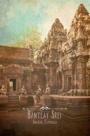 Vintage Banteay Srei, Cambodia, Asia by Take Me Away