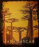 Vintage Baobab Trees in Madagascar, Africa-Take Me Away-Art Print