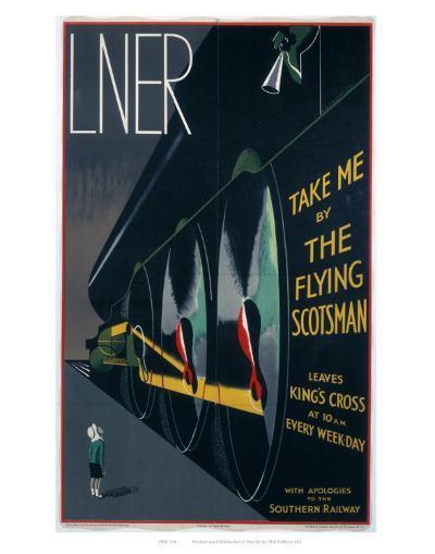 Take Me by The Flying Scotsman--Art Print