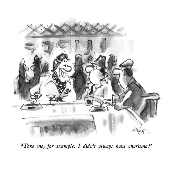 """Take me, for example.  I didn't always have charisma."" - New Yorker Cartoon-Lee Lorenz-Premium Giclee Print"