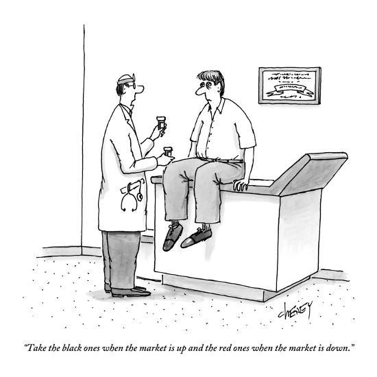 """""""Take the black ones when the market is up and the red ones when the marke?"""" - New Yorker Cartoon-Tom Cheney-Premium Giclee Print"""