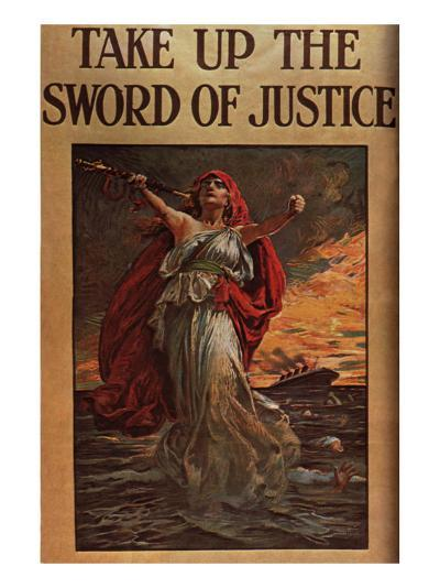 Take Up the Sword of Justice, c.1914--Giclee Print