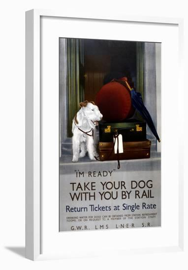 Take Your Dog with You by Rail,1923-1947-null-Framed Giclee Print