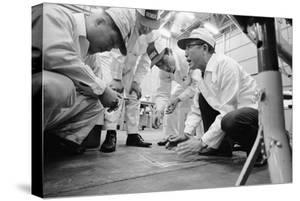 Founder of Honda, Soichura Honda Speaking to Engineers at Honda Plant, Tokyo, Japan, 1967 by Takeyoshi Tanuma
