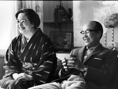 Soichiro Honda and Wife Sachi, Tokyo, Japan, 1967