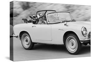 Soichiro Honda Driving Honda Convertible, Tokyo, Japan, 1967 by Takeyoshi Tanuma