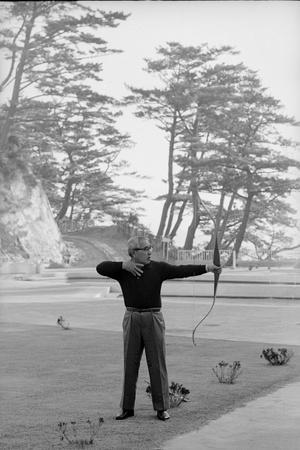 Unidentified Honda Worker in Tokyo Shooting Arrow, 1967