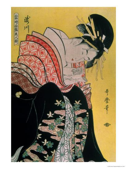 Takigawa from the Tea-House, Ogi-Kitagawa Utamaro-Giclee Print