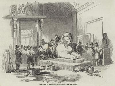 Taking Casts of the Sphynx, at the Louvre--Giclee Print