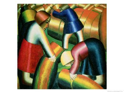 Taking in the Rye, 1912-Kasimir Malevich-Giclee Print