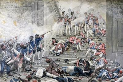 Taking of the Tuileries, 10th August 1792-Henri Paul Motte-Giclee Print