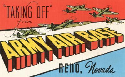 Taking Off, Army Air Base, Reno, Nevada
