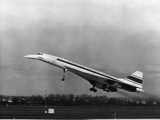 Taking Off for the First Time at 3.30 P.M. Is Concorde 001--Photographic Print