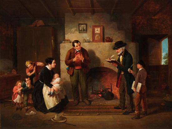 Taking the Census, 1854-Francis William Edmonds-Giclee Print