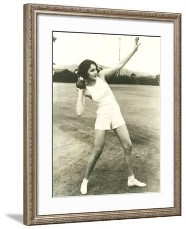 Taking the Shot--Framed Photo