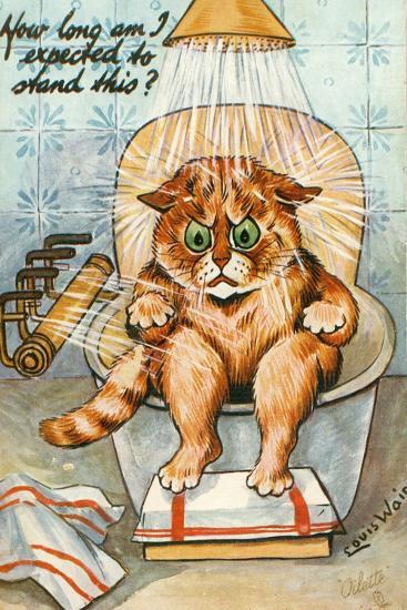 Taking the Waters as Seen by Louis Wain, C.1930-Louis Wain-Giclee Print