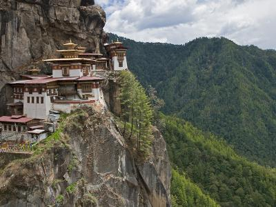 Taktshang Goemba, 'Tiger's Nest', Bhutan's Most Famous Monastery, Perched Miraculously on Ledge of -Nigel Pavitt-Photographic Print