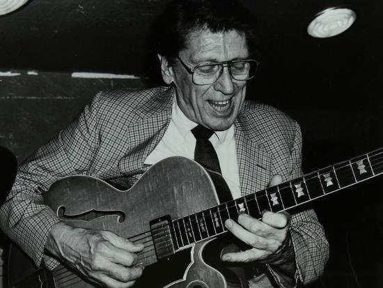 Tal Farlow Playing the Guitar at the Bell, Codicote, Hertfordshire, 18 May 1986-Denis Williams-Photographic Print