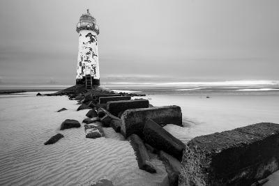 Talacre Lighthouse Point of Ayr- cieniu1-Photographic Print