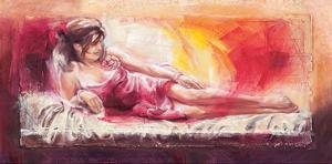 Samantha with Blossoms by Talantbek Chekirov