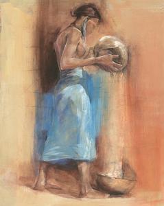 Woman in Blue by Talantbek Chekirov