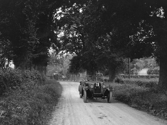 Talbot 18 - 55 4-seater tourer competing in the JCC Inter-Centre Rally, 1932-Bill Brunell-Photographic Print