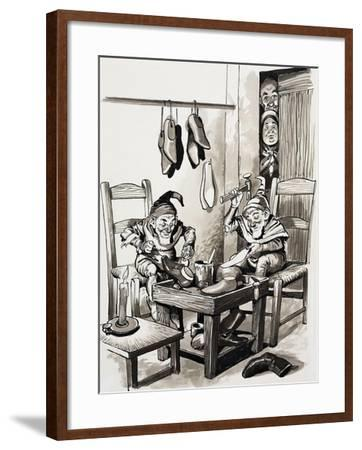 Tales from Many Lands: The Merry Cobblers--Framed Giclee Print