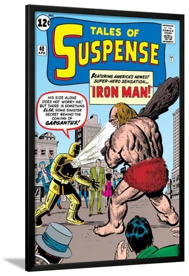 Tales Of Suspense: Iron Man No.42 Cover: Iron Man and Gargantus-Jack Kirby-Lamina Framed Poster
