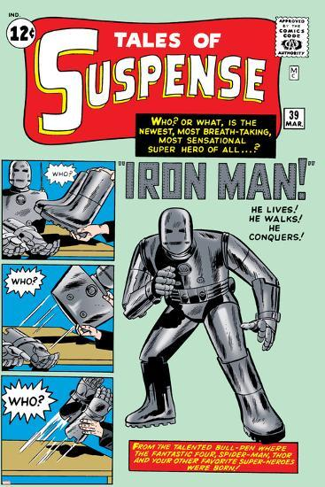 Tales of Suspense No.39 Cover: Iron Man-Jack Kirby-Art Print