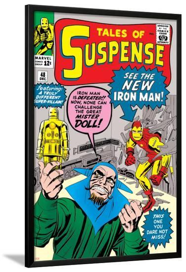 Tales of Suspense No.48 Cover: Iron Man and Mister Doll-Jack Kirby-Lamina Framed Poster