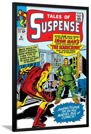 Tales Of Suspense No.51 Cover: Scarecrow and Iron Man-Don Heck-Lamina Framed Poster