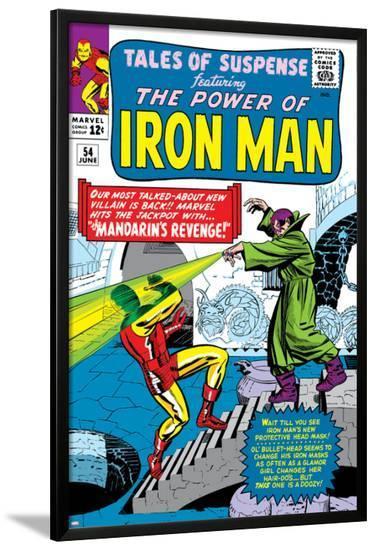 Tales Of Suspense No.54 Cover: Iron Man and Mandarin-Don Heck-Lamina Framed Poster