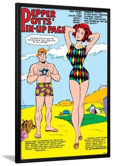 Tales Of Suspense No.55: Pepper Potts and Virginia-Don Heck-Lamina Framed Poster