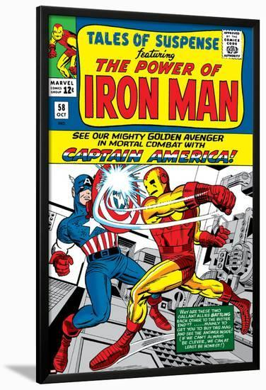 Tales Of Suspense No.58 Cover: Iron Man and Captain America Fighting-Don Heck-Lamina Framed Poster