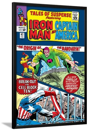 Tales Of Suspense No.62 Cover: Iron Man, Captain America and Mandarin-Don Heck-Lamina Framed Poster