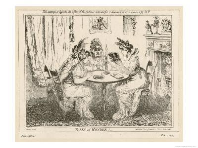 Tales of Wonder! Gillray Satire on the Taste for Gothic Novels-James Gillray-Giclee Print