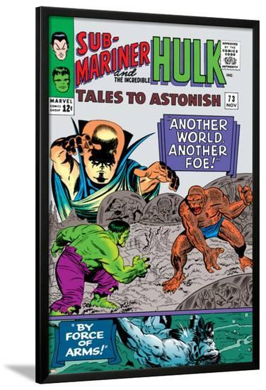 Tales to Astonish No.73 Cover: Hulk and Uatu The Watcher-Vince Colletta-Lamina Framed Poster