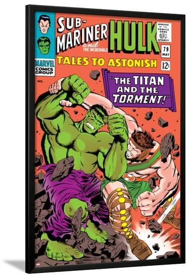 Tales to Astonish No.79 Cover: Hulk and Hercules-Bill Everett-Lamina Framed Poster