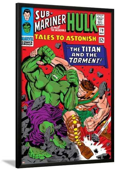 Tales To Astonish No.79 Cover: Hulk and Hercules-Reilly Brown-Lamina Framed Poster