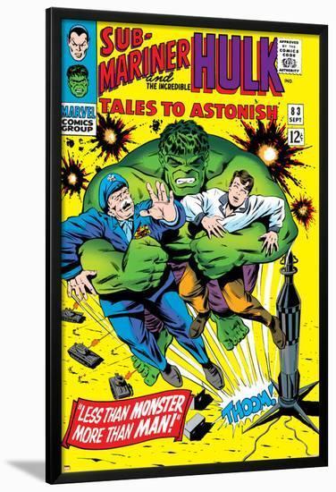 Tales to Astonish No.83 Cover: Hulk and Thunderbolt Ross-Dick Ayers-Lamina Framed Poster
