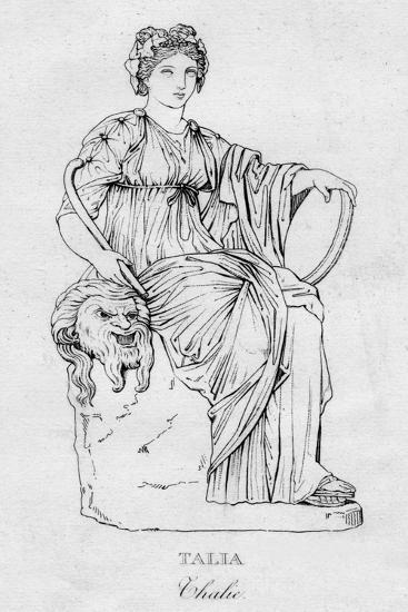 'Talia (Thalie)', c1850-Unknown-Giclee Print