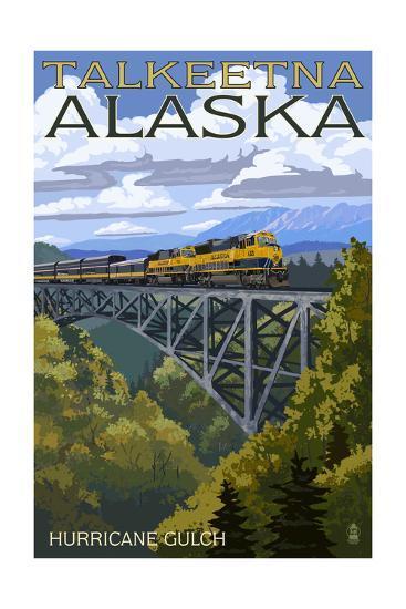 Talkeetna, Alaska - Hurricane Gulch-Lantern Press-Art Print