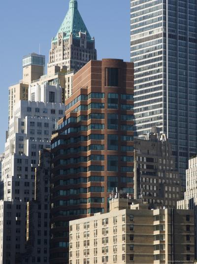 Tall Buildings in the Financial District of Lower Manhattan, New York City, New York, USA-Amanda Hall-Photographic Print