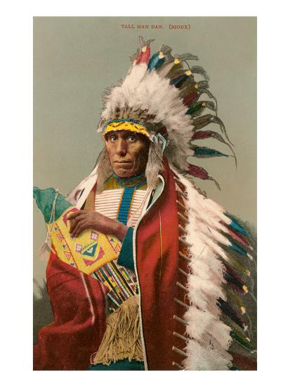 Tall Man Dan, Sioux Indian--Art Print
