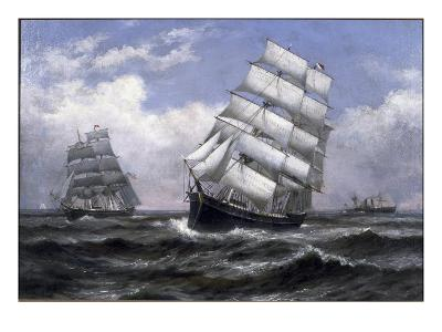 Tall Ships-Xanthus Russell Smith-Giclee Print