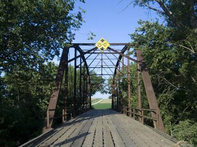 Tall Trees Surround a Wooden Bridge in Eastern Nebraska-Joel Sartore-Photographic Print